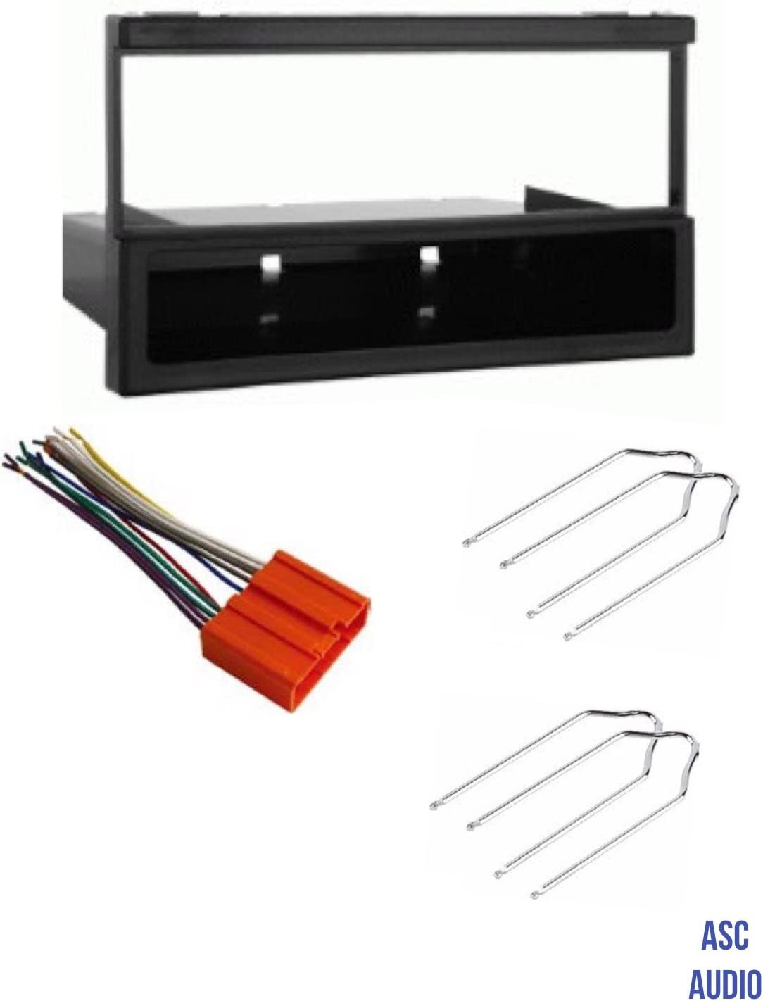 amazon.com: asc car stereo dash install kit, wire harness, and radio tool  for installing a single din aftermarket radio for some mazda vehicles -  please read compatible vehicles and restrictions listed below:  amazon.com
