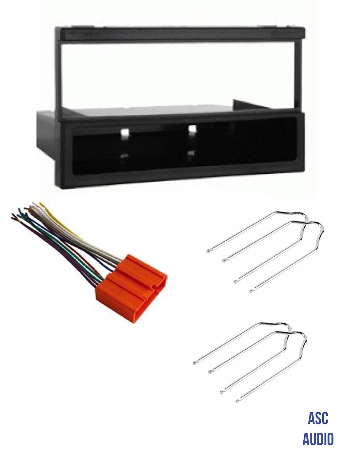 ASC Car Stereo Dash Install Kit, Wire Harness, and Radio Tool for Installing a Single Din Aftermarket Radio for Some Mazda Vehicles - Please Read Compatible Vehicles and Restrictions Listed Below