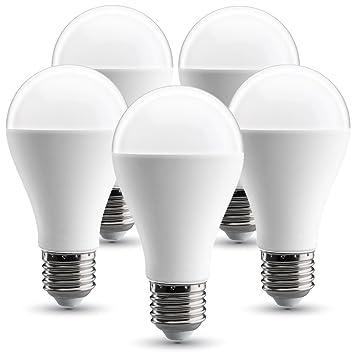 V-TAC Bombilla LED E27, 17W equivalente a 120 W, 1800 lúmenes, 130° - 5 unidades (4000K 17W (5 unidades)): Amazon.es: Iluminación