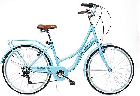 HelloBikes Downtown - Bicicleta de Ciudad para Mujer (26