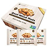 Daily Nuts Healthy Quad Mix Multipacks UNSALTED, No Additives, Dry Roasted, Premium Nuts, NON -GMO