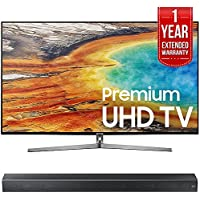 Samsung UN65MU9000 65 4K Ultra HD Smart LED TV (2017 Model) w/ Samsung HW-MS650/ZA Sound+ Premium Soundbar + 1 Year Extended Warranty