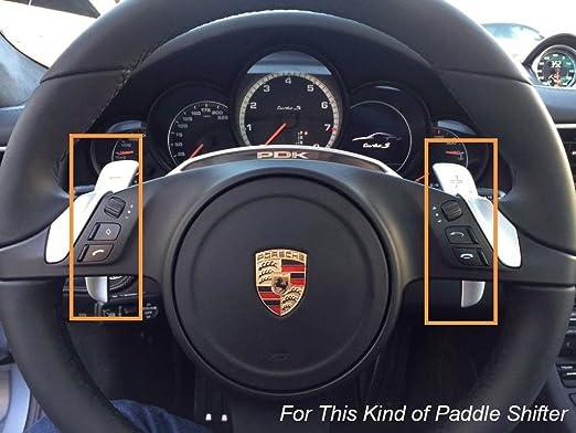 Amazon.com: 1 Set Steering Wheel PDK Paddle Shifter Extension Aluminum Fit 2016+ Porsche: Automotive