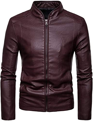 Leather Jackets Motorcycle Bomber Biker Real Lambskin Leather Jacket for Men