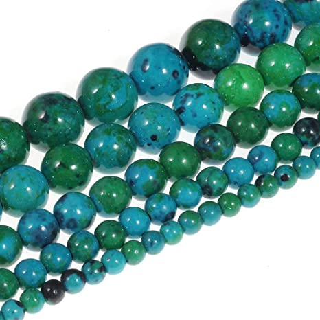 12MM CHRYSOCOLLA GEMSTONE GREEN FACETED ROUND LOOSE BEADS 15.5/""