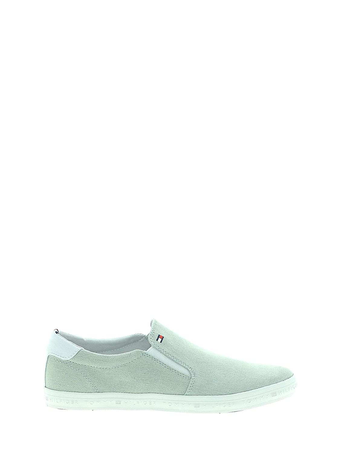 Tommy Hilfiger Essential Slip On Sneaker, Zapatillas para Hombre 43 EU|Green