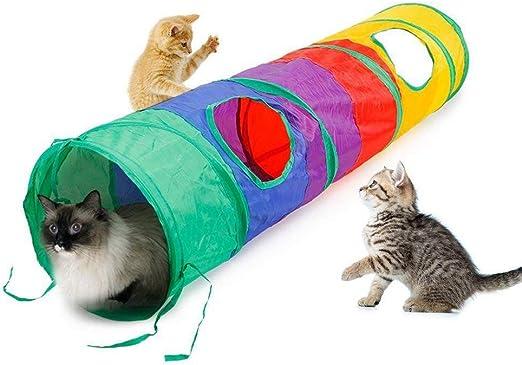 Túneles Para Gatos Artículos Para Gatos Tubos Y Túneles Para Animales Pequeños Práctico Túnel De Gato Tubo Para Mascotas Juguete Plegable Juego Interior Al Aire Libre Gatito Cachorro Juguetes: Amazon.es: Productos para
