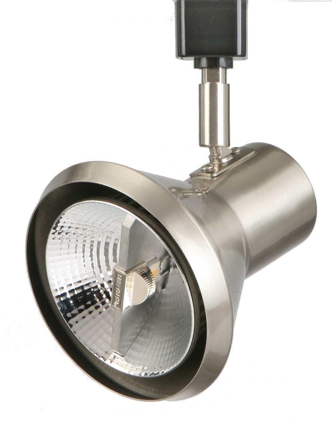 Lithonia Lighting LTH SHDE PAR30 BN M24 1-Light Front Loading Shade Commercial Track Head, PAR30-Compatible Led, Brushed Nickel