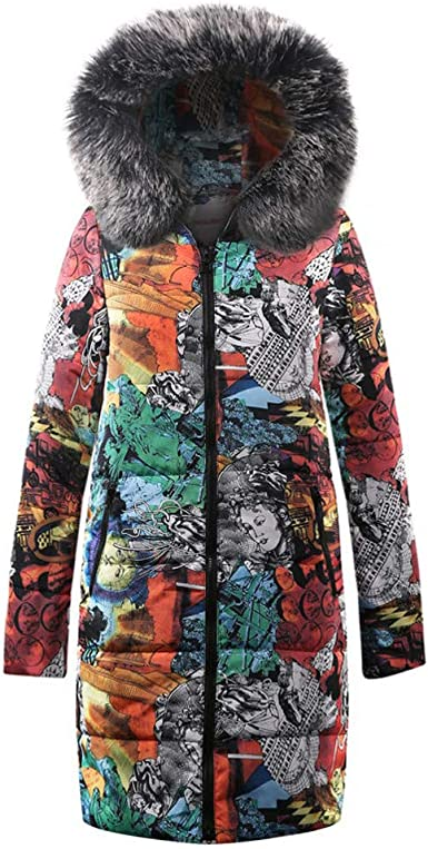 Womens Winter Long Down Cotton Ladies Parka Hooded Party Quilted Jacket Outwear