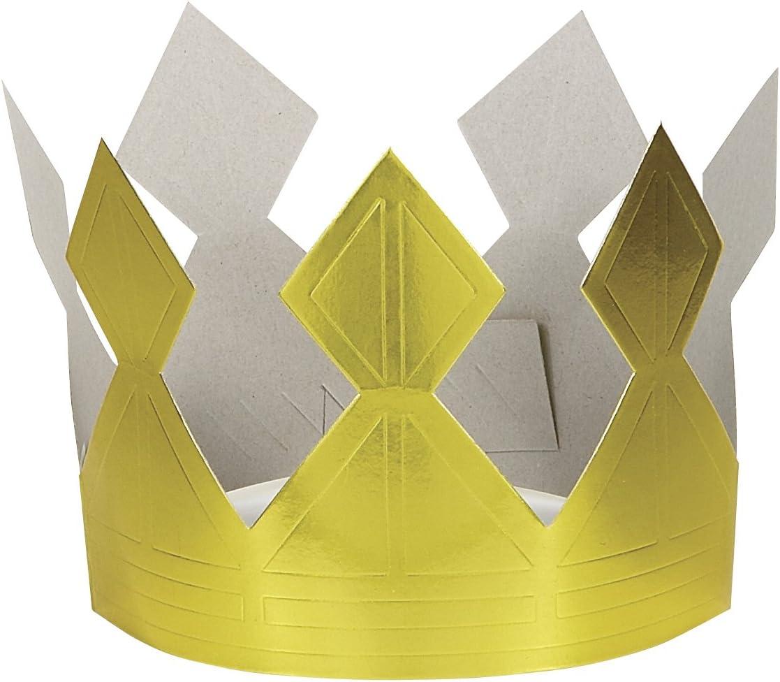 Gold Paper Crown Unique Party Favors 8307 B0016KXAQ4