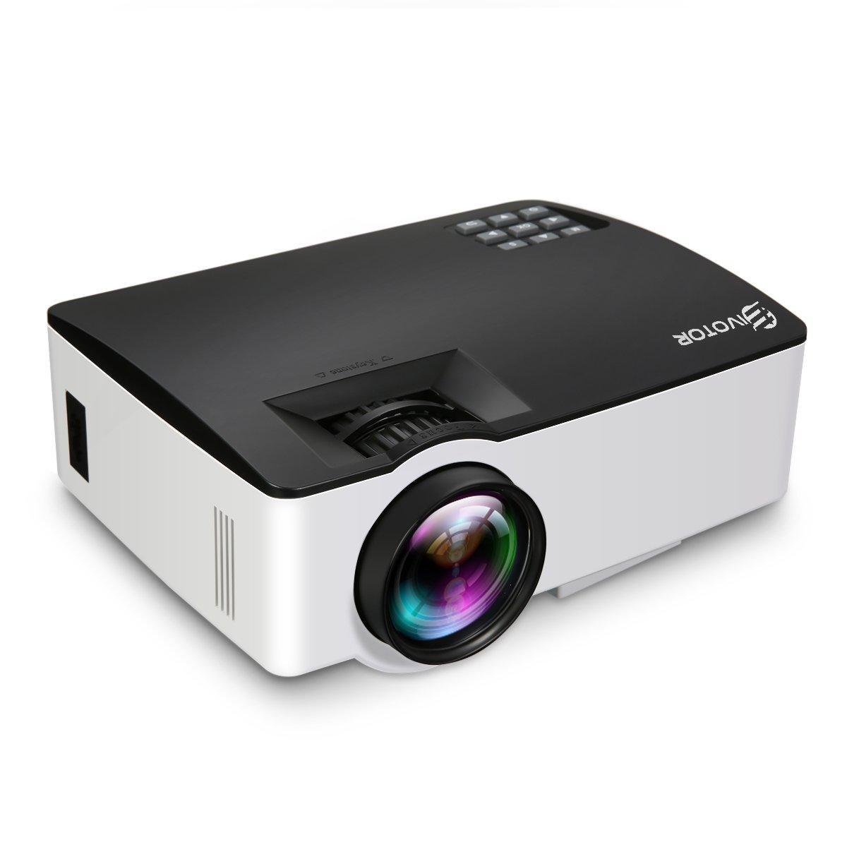 Video Proiettore LCD, EIVOTOR Proiettore Domestico Full HD Supporto 1080P con HDMI / USB / SD / VGA / AV, Mini Proiettore 1500 Lumen per Gaming / TV / Smartphone / PC / Home Cinema EIVOTOR Co. Ltd EIVOTORHON25LIN252