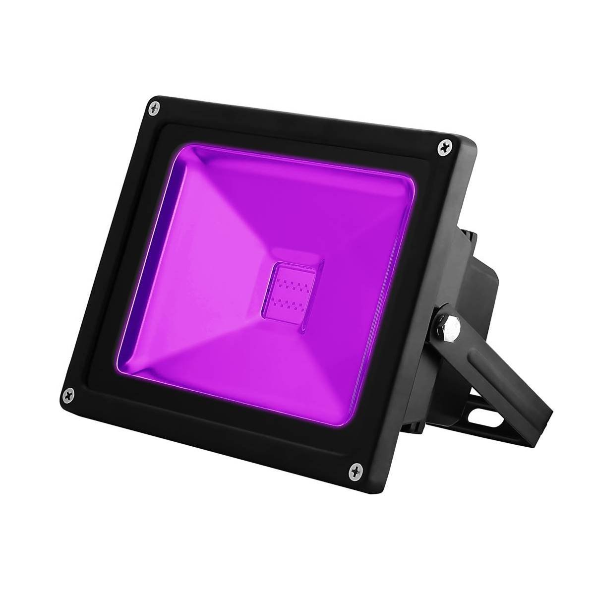 UV LED Black Light, YKDtronics Indoor/Outdoor 20W UV LED Flood Light, Ultra Violet LED Flood Light for Neon Glow, Blacklight Party, Stage Lighting, Fluorescent Effect, Glow in The Dark and Curing