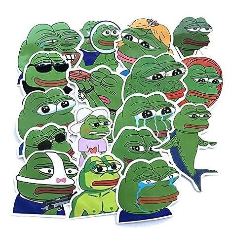 DADATU Pegatinas 17uns/Lot Pepe Sad Frog Stickers Calcomanía para ...