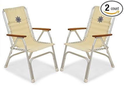 Amazon.com: Forma Marine juego de 2 sillas de respaldo alto ...