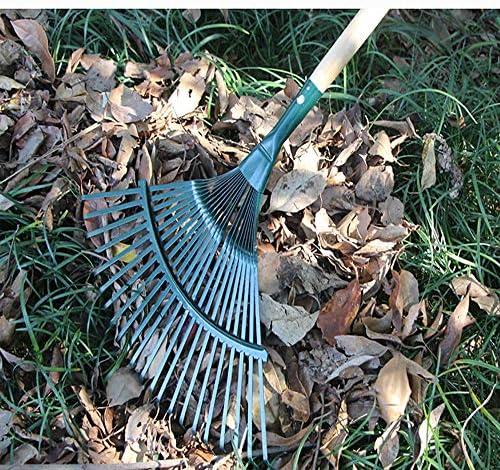 smzzz Utility Furniture Rake Steel Deciduous Dead Leaf Rake Wooden Handle Rake Gardening Garden Tools Suitable for Agriculture Gardens Villas