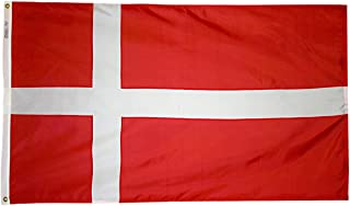 product image for Annin Flagmakers Model 192188 Denmark Flag 3x5 ft. Nylon SolarGuard Nyl-Glo 100% Made in USA to Official United Nations Design Specifications.
