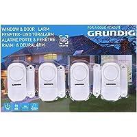 GRUNDIG raam- en deuralarm | zelfklevend voor eenvoudige montage | 90 dB signaaltoon | voor deuren/ramen met scharnier…