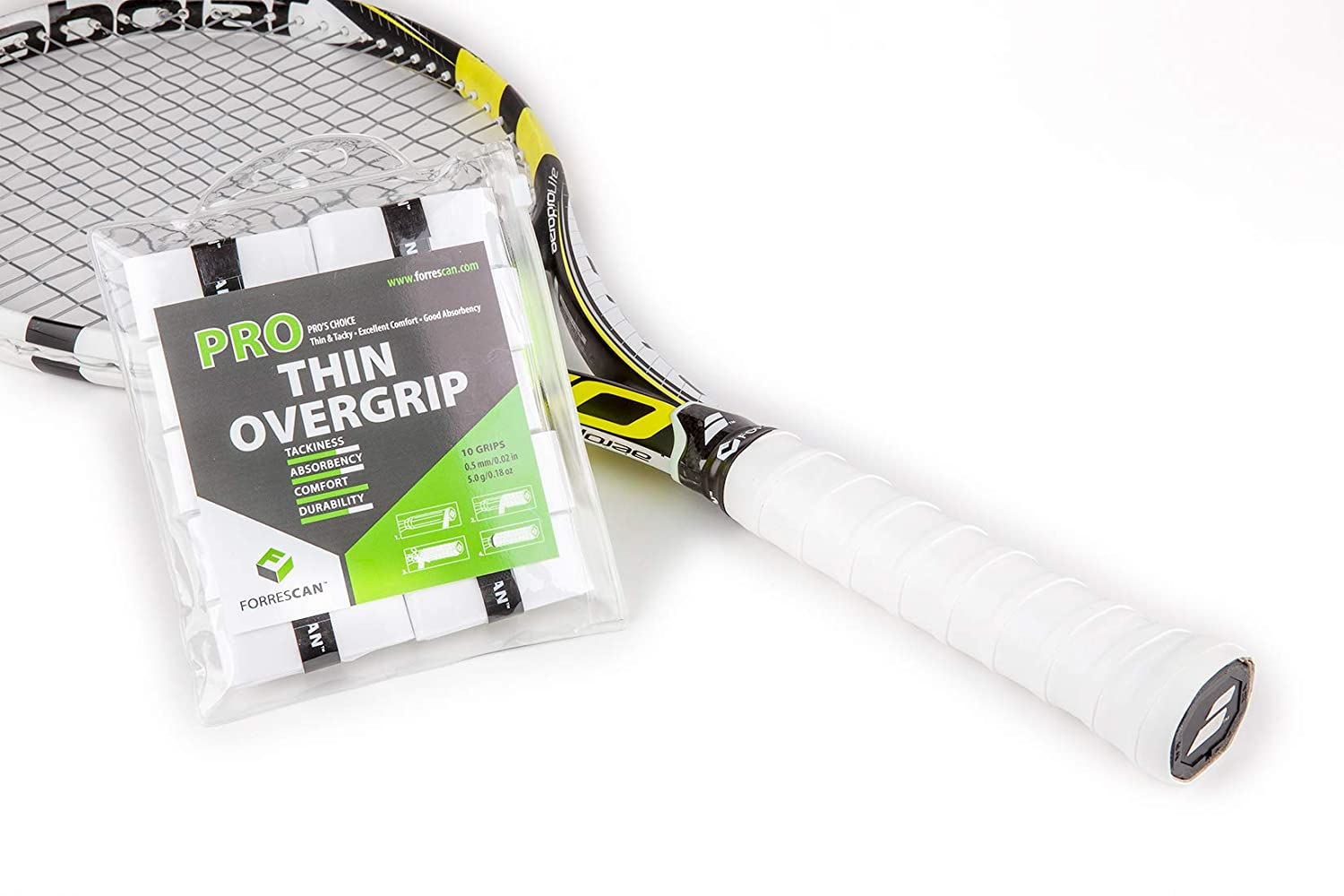 Amazon.com : ForresCAN Tennis Overgrip - Pro Thin White ...