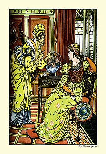 - Princess Bell-Etoile Tempted By Teintise - 12x18 Art Poster by Walter Crane