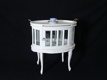 Teeschrank Barschrank Beistelltisch Antik Stil In Weiß