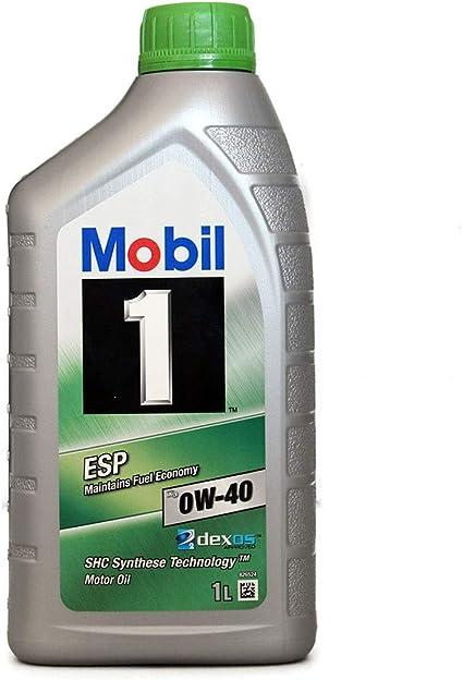 Mobil 1 151500 ESP X3 0W-40, Aceite de Motor para Coches, 1 Litro ...