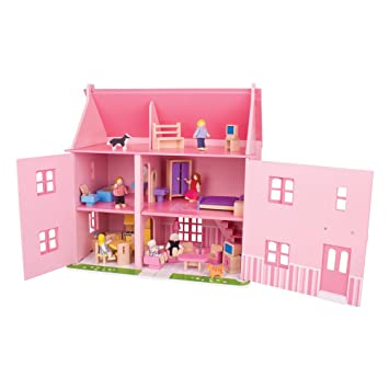 Superb Bigjigs Large Mansion For Dolls (bijt124)