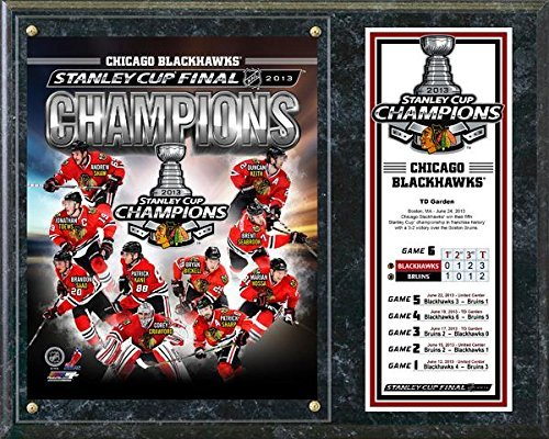 Chicago Blackhawks 2013 NHL Stanley Cup Champions Plaque 15 x 12 Photo by Photo File