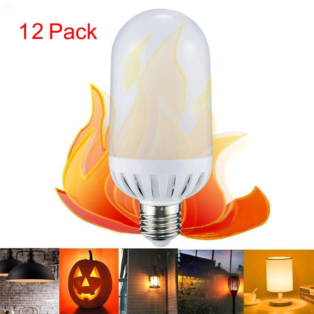 Alonea LED Flame Fire Light Effect Simulated Nature Corn Bulbs E26/E27 Decoration Lamp (12 Pack) by Alonea