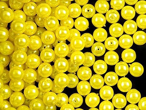 50pcs-czech-glass-pearl-beads-estrela-round-6-mm-yellow