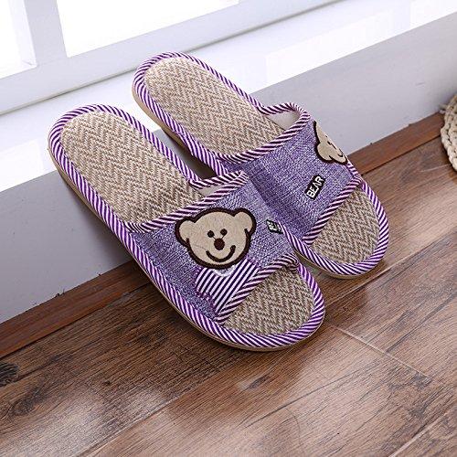 Casa Purple Jia Sandali Bottom Pavimento 40 E Legno Orso Flaxen purple Pantofola Pantofole 41 Estivi In Hong Esterne Interne 40 Ed 41 HqHr68xw