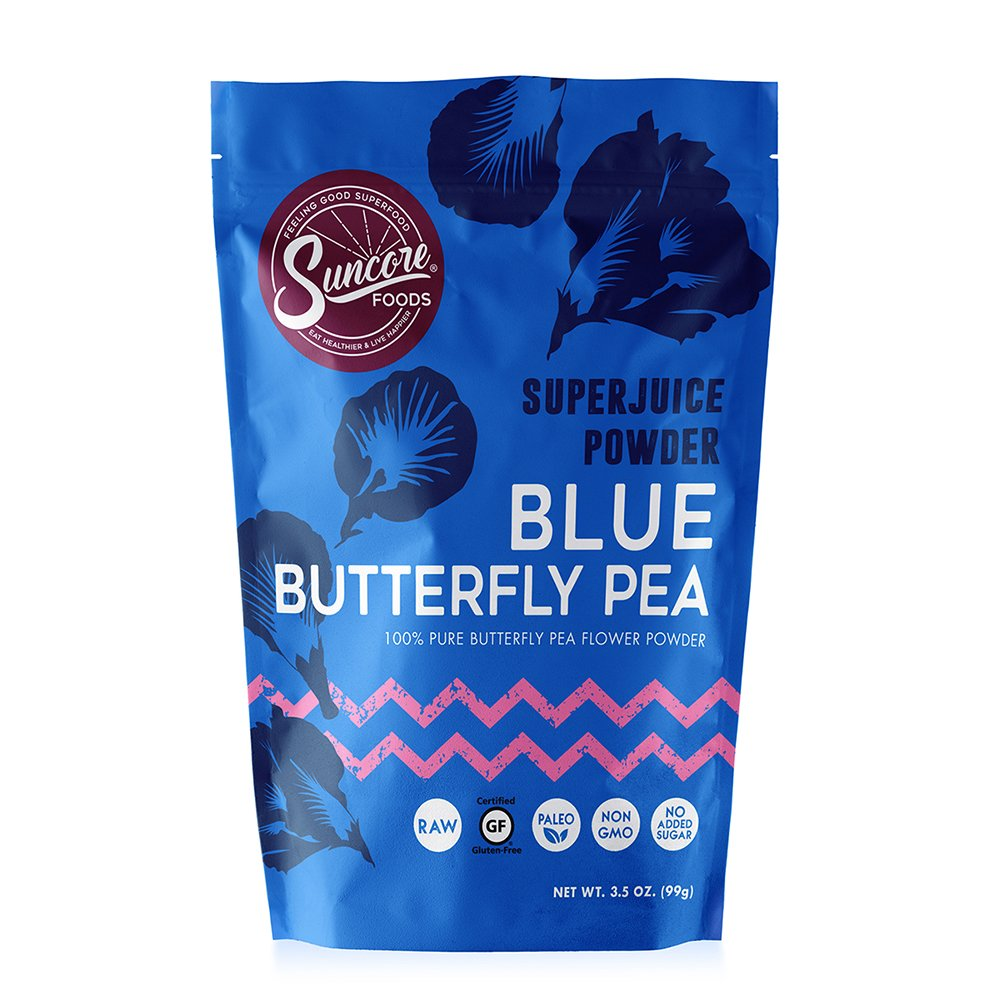 Suncore Foods - 100% Pure Blue Butterfly Pea Natural Supercolor Powder by Suncore Foods