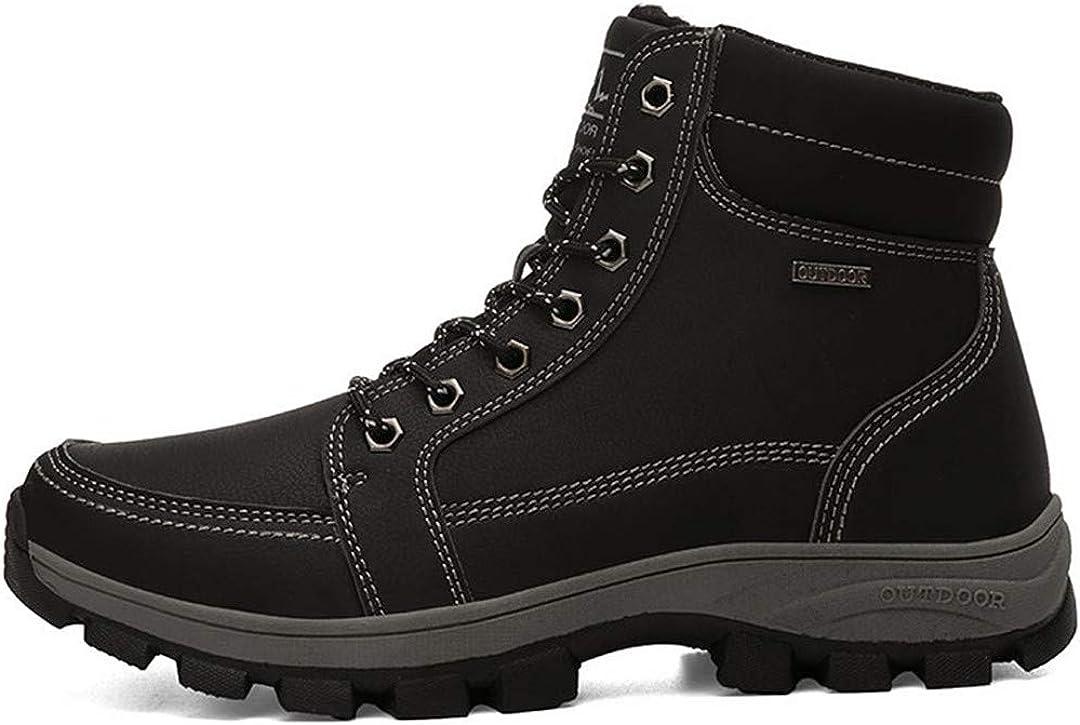 Winter Boots Men Safety Men Shoes Non-Slip Velvet Shoes Mountaineering Snow Boots