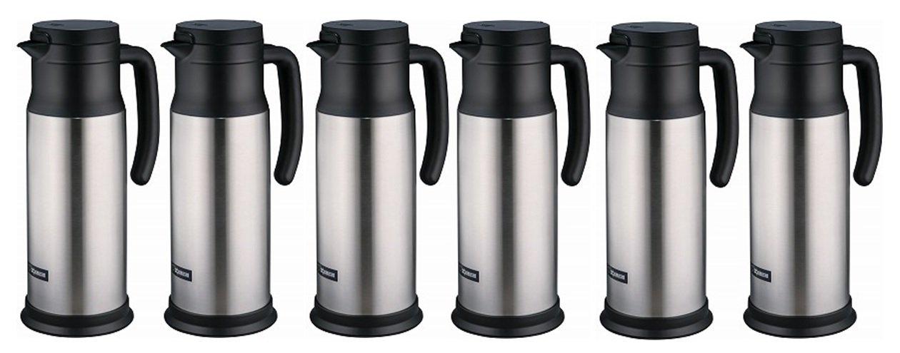Zojirushi SH-MAE10 Stainless Vacuum Creamer/Dairy Server, Stainless, 6 PACK