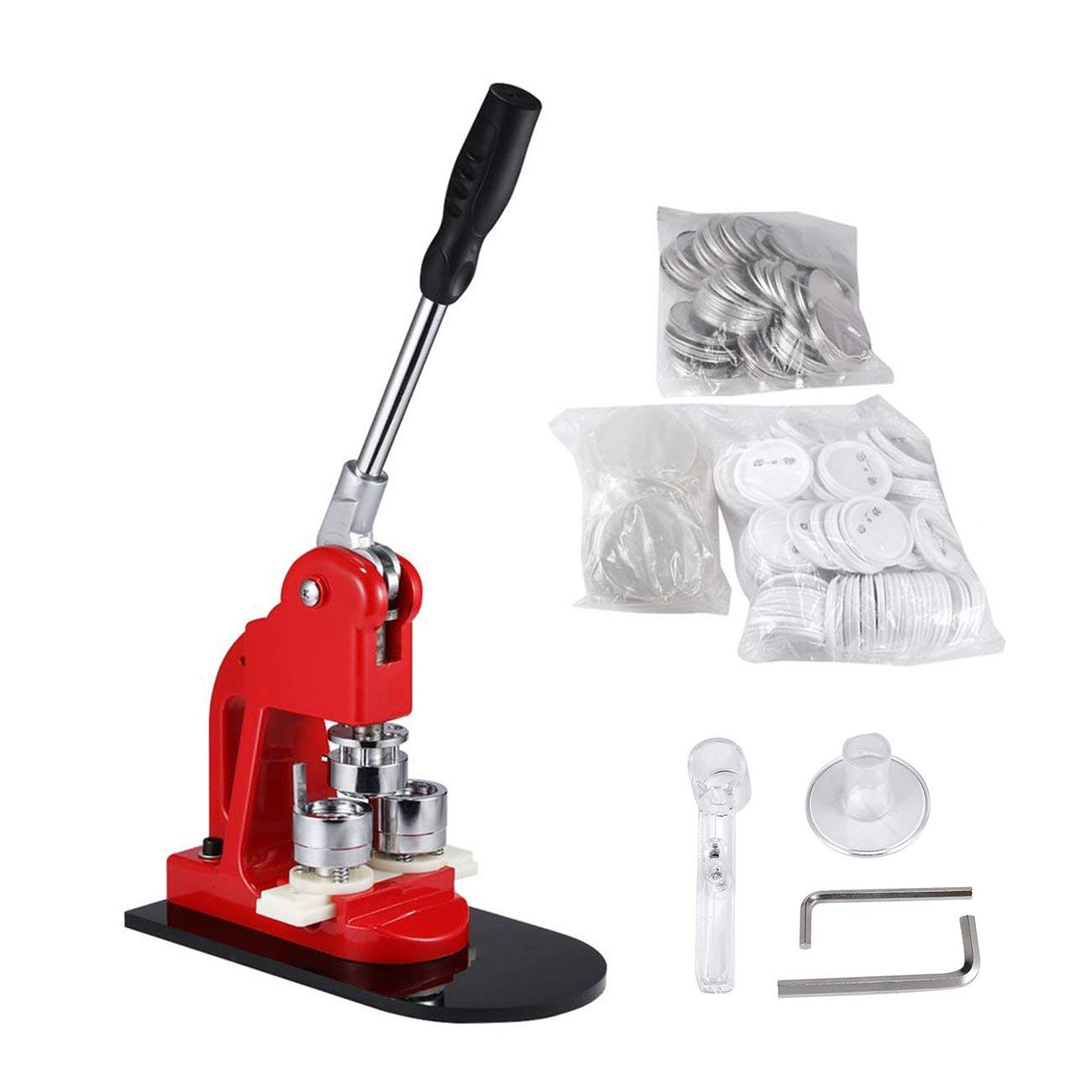 BEAMNOVA Button Badge Maker Machine 1-1/4 inch with 1000 Button Parts and Circle Cutter by BEAMNOVA