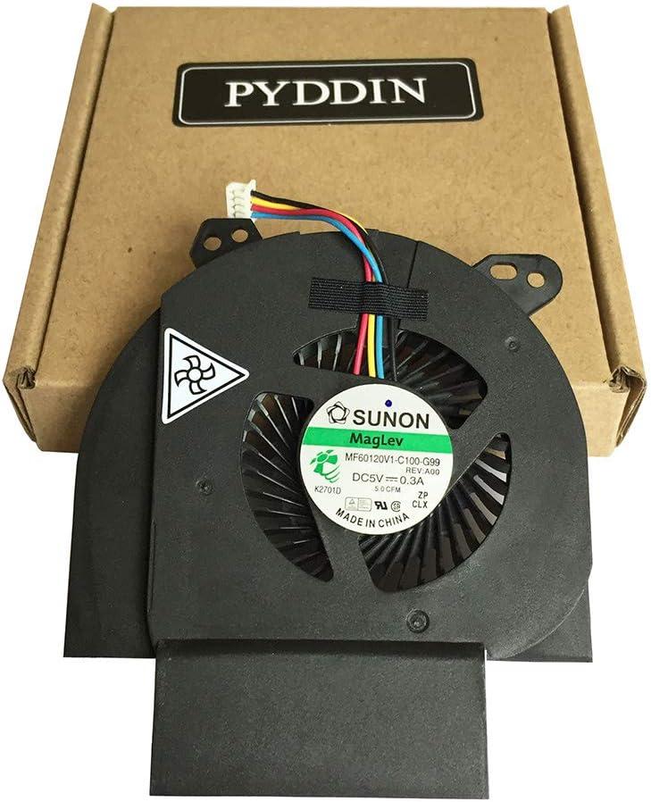 PYDDIN Laptop CPU Cooling Fan Cooler for Dell Latitude E6520 Sereis, P/N: GT9XP 0GT9XP