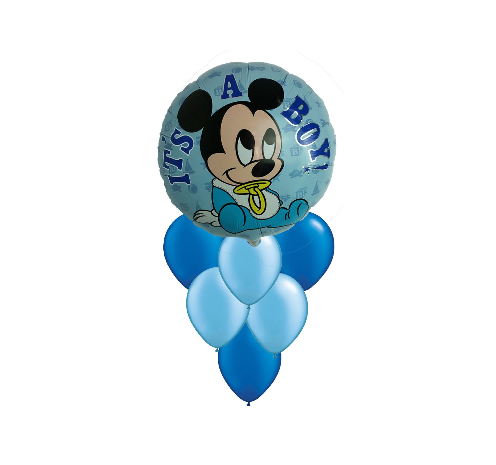 Disney Mickey Mouse It's a Boy Balloon Bouquet 7pc