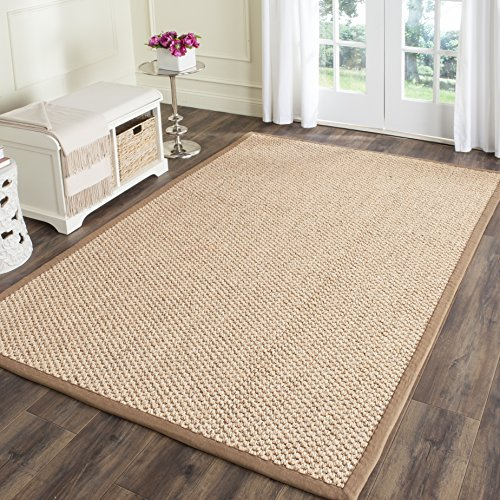 Safavieh Natural Fiber Collection NF525B Natural Sisal Area Rug (8' x 11') - Solid Border Rug