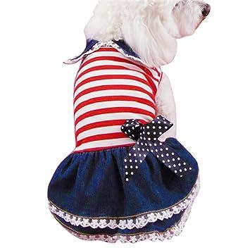 Profitd Perros Vestidos Spring Autumn Pet Dog Dresses Ropa de perrito Jeans Tutu Shirt Cat Outfit