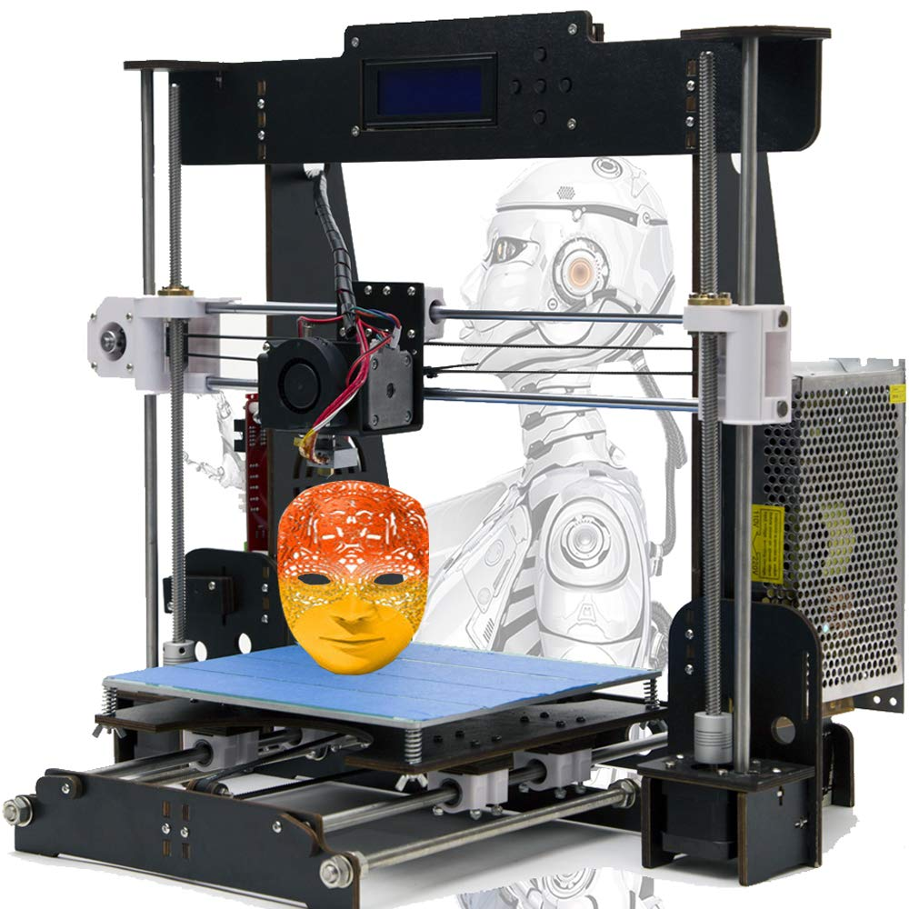 Win-Tinten A8 Hö lzern DIY 3D Drucker Reprap Kits i3 Upgrade MK8 Extruder 220 * 220 * 240mm Druckgrö ß e (3D Drucker A8 Hö lzern)