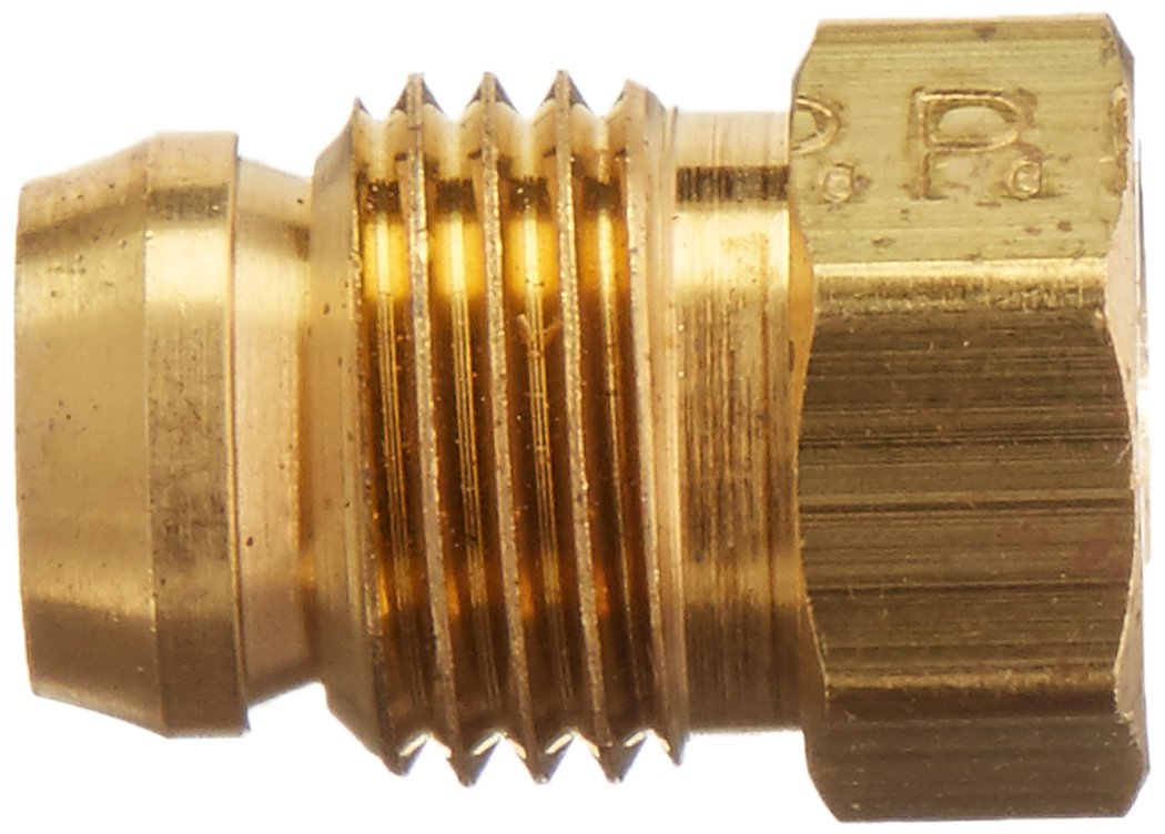 Parker Hannifin Corporation Parker Hannifin 61HD-5-pk5 Hi-Duty Nut//Sleeve Fitting Pack of 5 Brass Pack of 5 1//8 Compression Tube 1//8 Compression Tube