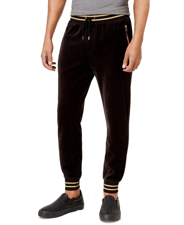 I-N-C Mens Striped-Trim Casual Jogger Pants