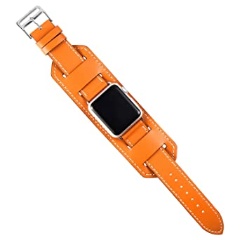 Autulet Apfel Lederband Uhrenarmband 44mm Für Bänder Band Iwatch A54jLR