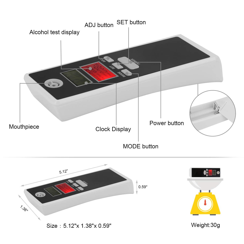 Amazon.es: Alcoholímetro Digital Profesional Probador Portátil de Alcohol Analizador de Respiración con Pantalla LCD de Alta Precisión Fácil Medición Fácil ...