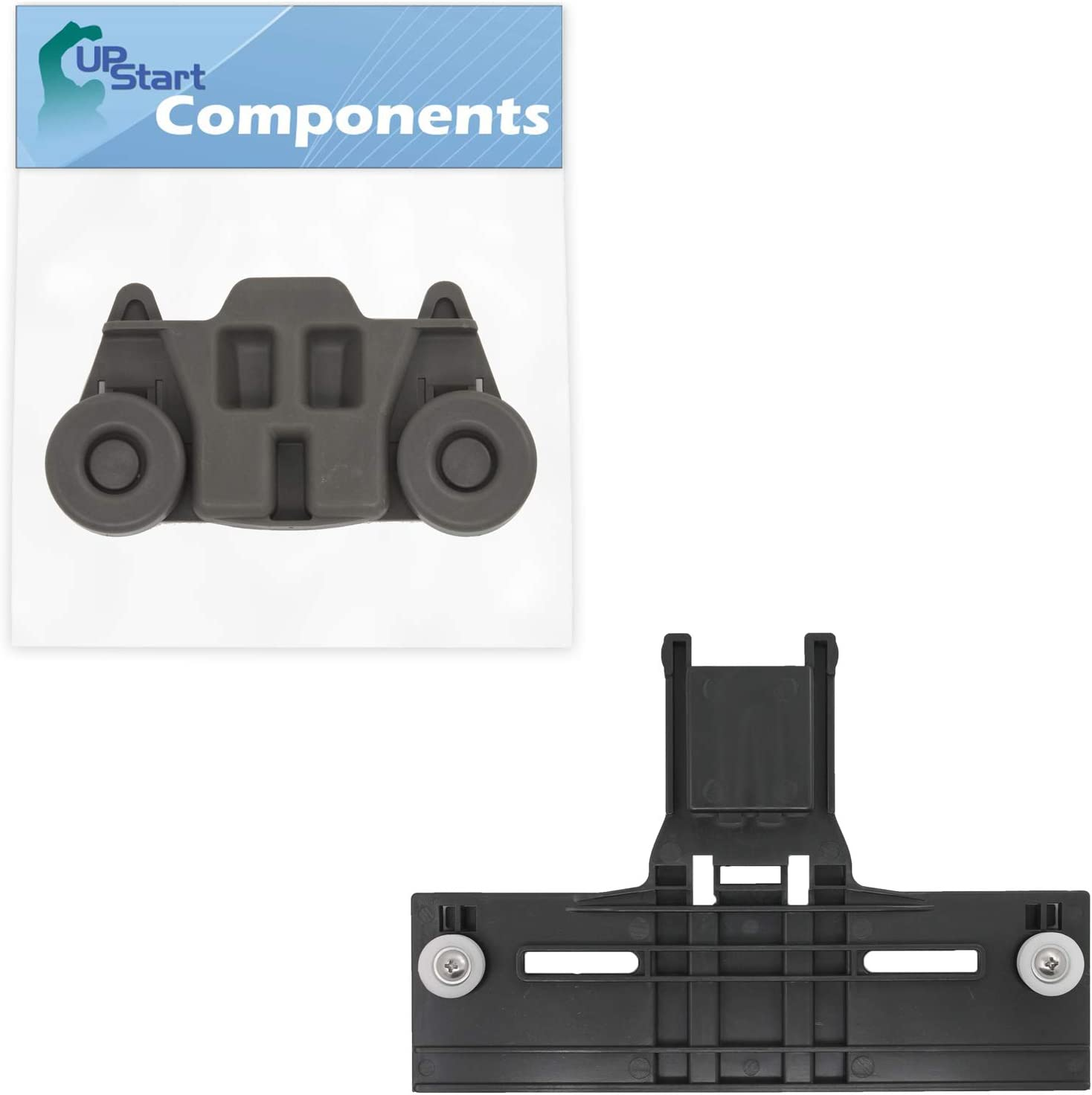 W10350376 Top Rack Adjuster & W10195416 Lower Dishwasher Wheel Replacement for KitchenAid KUDS30FXSS9 Dishwasher - Compatible with W10350376 Rack Upper Top Adjuster & W10195416 Dishrack Wheel Kit