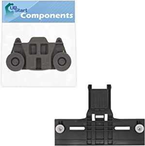 W10350376 Top Rack Adjuster & W10195416 Lower Dishwasher Wheel Replacement for KitchenAid KUDS30FXBL1 Dishwasher - Compatible with W10350376 Rack Upper Top Adjuster & W10195416 Dishrack Wheel Kit