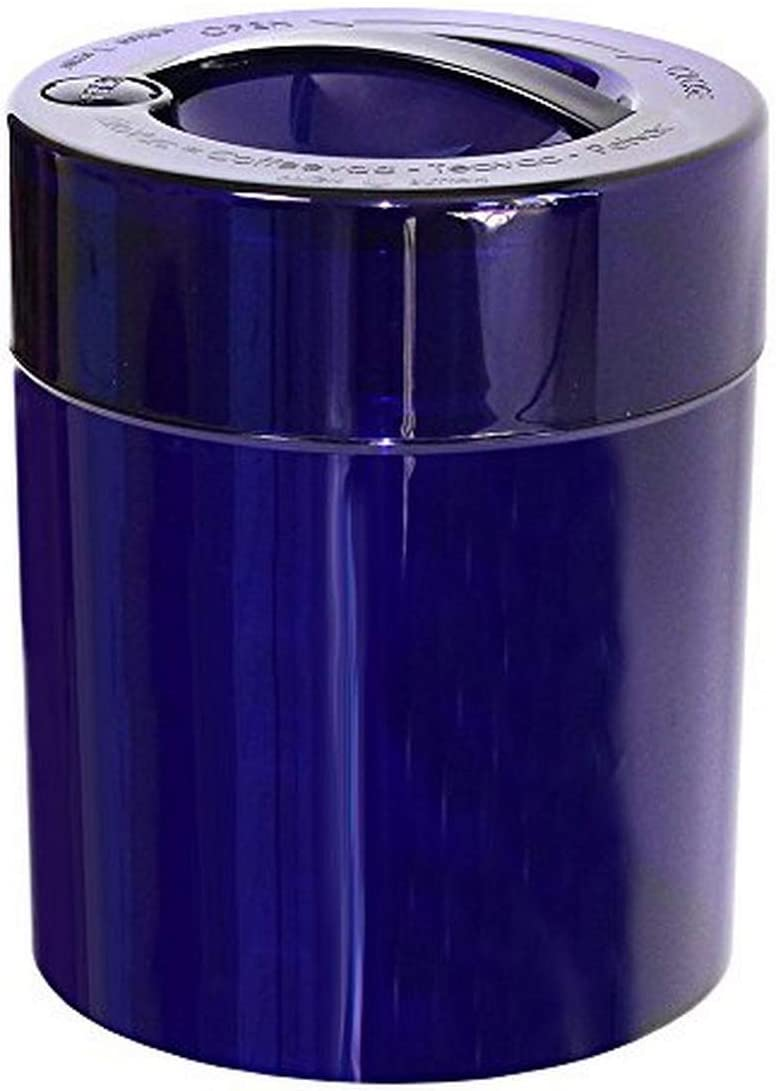 Kilovac - 8 oz to 2.5 lbs Airtight Multi-Use Vacuum Seal Portable Storage Container for Dry Goods, Food, and Herbs - Blue Tint