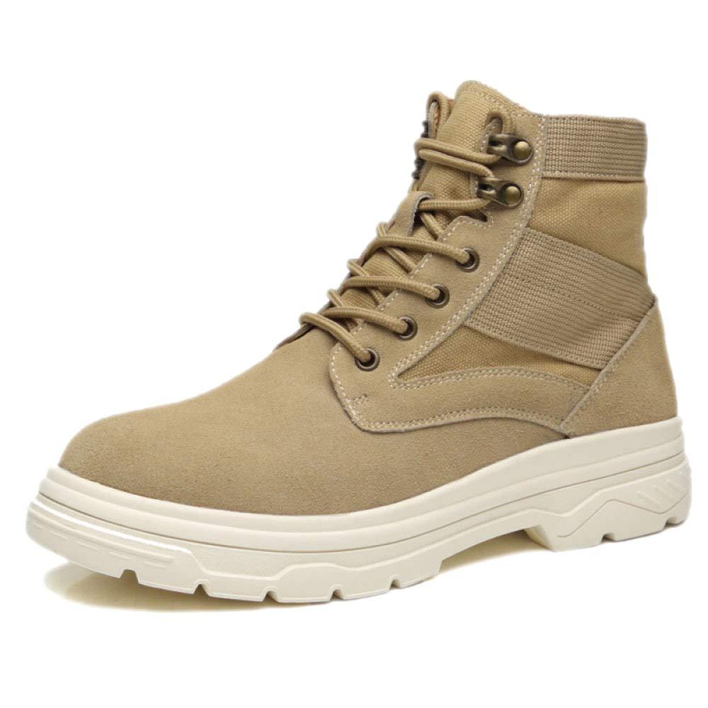 snfgoij Chaussures De Travail Hommes Baskets Résistant Extérieur à l'eau Extérieur Résistant Résistant Automne Martin Boots Leather Boots Desert High Aide,Yellow-42 08d6c7