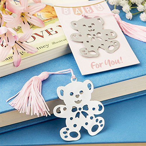 (SALE - FASHIONCRAFT Lovable Teddy Bear Design Bookmark Favors from The Book Lovers Collection. )