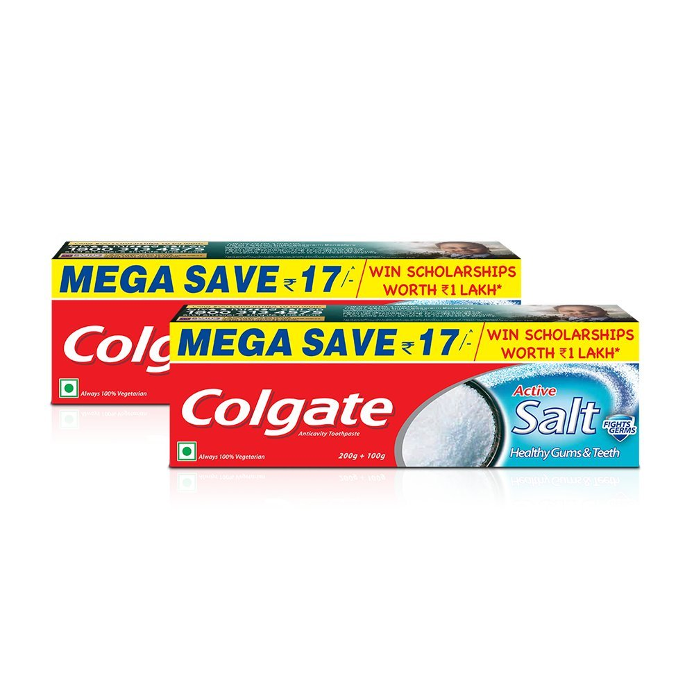 Colgate Active Salt Toothpaste Natural Saver Pack - 300 g (Pack of 2) product image