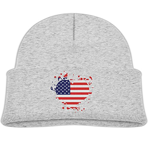 B-B-E-A-H Flag Heart US United States America Superball Baby Hat Unisex Lovely Knit Beanies Highly Elastic Cotton Cap